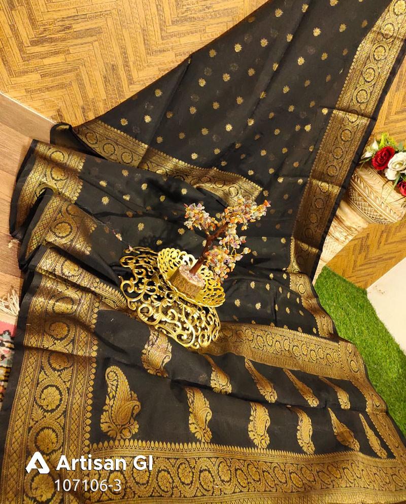 Art Silk Zari Buti Work Banarasi Saree